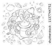 halloween concept. hand drawn... | Shutterstock .eps vector #1137744752