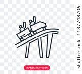 roller coaster vector icon... | Shutterstock .eps vector #1137748706
