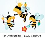 vector illustration of three... | Shutterstock .eps vector #1137750905