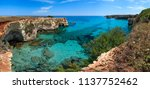 picturesque seascape with... | Shutterstock . vector #1137752462