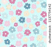 vector seamless pattern of neat ... | Shutterstock .eps vector #1137754142