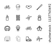 recreation icon. collection of... | Shutterstock .eps vector #1137765692