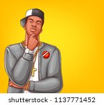 vector pop art rap  hip hop... | Shutterstock .eps vector #1137771452