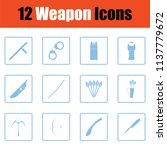 set of twelve weapon icons.... | Shutterstock .eps vector #1137779672