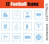 american football icon. blue... | Shutterstock .eps vector #1137779675