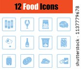 set of food icons. blue frame... | Shutterstock .eps vector #1137779678