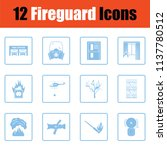 set of fire service icons. blue ... | Shutterstock .eps vector #1137780512
