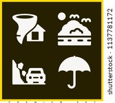 set of 4 weather filled icons... | Shutterstock . vector #1137781172