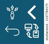set of 4 arrows outline icons... | Shutterstock . vector #1137784175