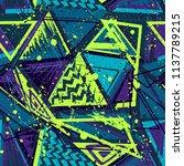 abstract seamless vector... | Shutterstock .eps vector #1137789215