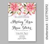 wedding invitation design... | Shutterstock .eps vector #1137793592