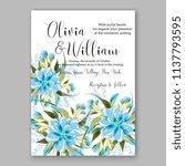 wedding invitation design... | Shutterstock .eps vector #1137793595