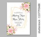 wedding invitation design... | Shutterstock .eps vector #1137793688