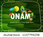 happy onam  harvest festival... | Shutterstock .eps vector #1137794258