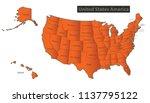 usa map with alaska and hawaii...   Shutterstock .eps vector #1137795122
