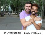 beautiful image of gay couple  | Shutterstock . vector #1137798128