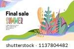landing page  summer final sale ... | Shutterstock .eps vector #1137804482