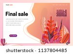 landing page   hello autumn ... | Shutterstock .eps vector #1137804485