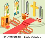 illustration of a church... | Shutterstock .eps vector #1137806372