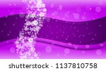 winter border with ultra violet ... | Shutterstock .eps vector #1137810758