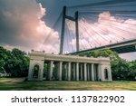 the vidyasagar setu or  second... | Shutterstock . vector #1137822902