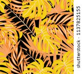 tropical seamless pattern with... | Shutterstock .eps vector #1137825155