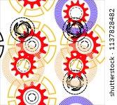abstract geometric gear ... | Shutterstock .eps vector #1137828482