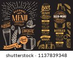 beer menu for restaurant.... | Shutterstock .eps vector #1137839348
