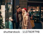 side view of a couple looking... | Shutterstock . vector #1137839798