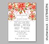 floral wedding invitation ... | Shutterstock .eps vector #1137848396