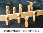 the concept of misunderstanding ... | Shutterstock . vector #1137848912