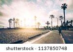 venice california usa. 05 23 17 ... | Shutterstock . vector #1137850748