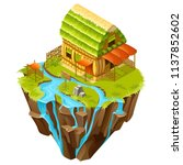 3d isometric building on the...