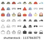 accessoires colored icon | Shutterstock .eps vector #1137863075