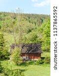 farm architecture in village... | Shutterstock . vector #1137865592