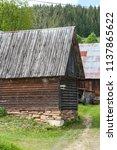 farm architecture in village... | Shutterstock . vector #1137865622