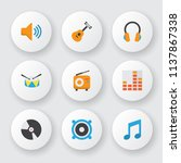 audio icons flat style set with ... | Shutterstock .eps vector #1137867338