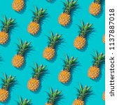 pineapple creative tropical... | Shutterstock . vector #1137887018