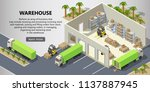 vector isometric warehouse with ... | Shutterstock .eps vector #1137887945