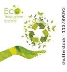 illustration environmentally... | Shutterstock . vector #113789092