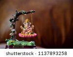 hindu god ganesha in art form... | Shutterstock . vector #1137893258