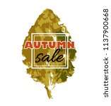 autumn sale. banner with... | Shutterstock .eps vector #1137900668
