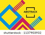 modern geometric abstract... | Shutterstock .eps vector #1137903932