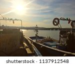 fishing boats at buyukcekmece... | Shutterstock . vector #1137912548
