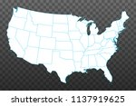 map of united states of america.... | Shutterstock .eps vector #1137919625