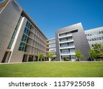 los angels  jun 9  building of...   Shutterstock . vector #1137925058