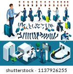 isometric set 1 create your... | Shutterstock .eps vector #1137926255
