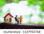 miniature people  husband and...   Shutterstock . vector #1137932768
