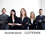 group of business people with... | Shutterstock . vector #113793406