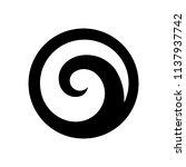 spiral shape based on silver... | Shutterstock .eps vector #1137937742